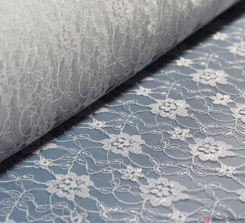 Raschel White Lace Fabric