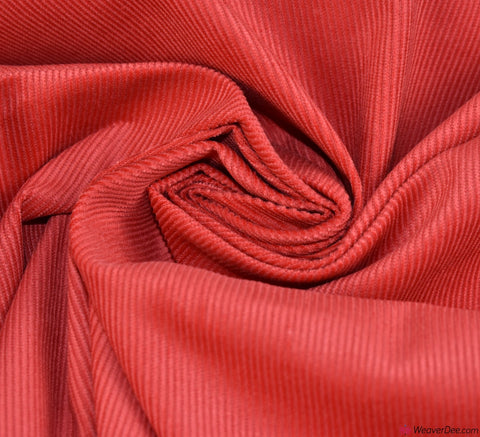 Cotton Needlecord Fabric - Red