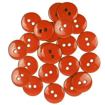 Favourite Findings Buttons: Red Small 16mm (pack of 20)