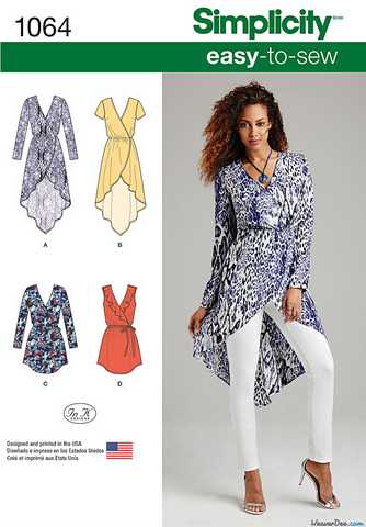 Simplicity - S1064 Misses' Tunics | Easy - WeaverDee.com Sewing & Crafts - 1
