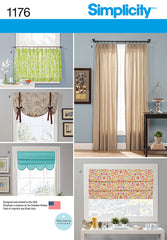 Simplicity - S1176 Window Treatments - WeaverDee.com Sewing & Crafts - 1