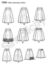 Simplicity - S1369 Misses' Skirts in 3 Lengths - WeaverDee.com Sewing & Crafts - 2