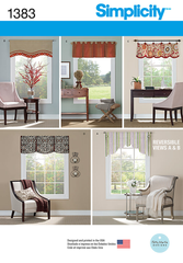"Simplicity - S1383 Valances for 36"" to 40"" Wide Windows - WeaverDee.com Sewing & Crafts - 1"