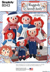 Simplicity - S8043 Raggedy Ann & Andy Dolls - WeaverDee.com Sewing & Crafts - 1