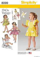 Simplicity - S8099 Toddlers' Romper & Button-on skirt - WeaverDee.com Sewing & Crafts - 1