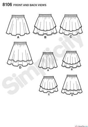 Simplicity - S8106 Learn To Sew Skirts for Girls & Girls Plus - WeaverDee.com Sewing & Crafts - 1