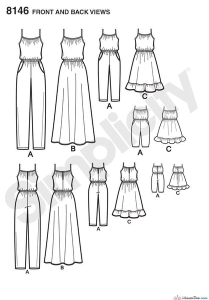 Simplicity Pattern: S8146 Matching outfits for Misses