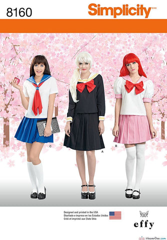 Simplicity - S8160 Effy Sews Cosplay Misses' Costume - WeaverDee.com Sewing & Crafts - 1