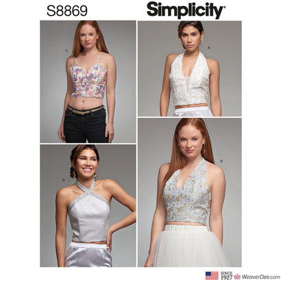 Simplicity Pattern S8869 Misses' Lined Tops