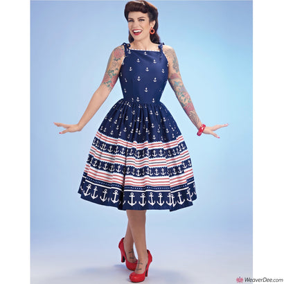Simplicity Pattern S8873 Misses' Vintage 1950s Dress by Gertie