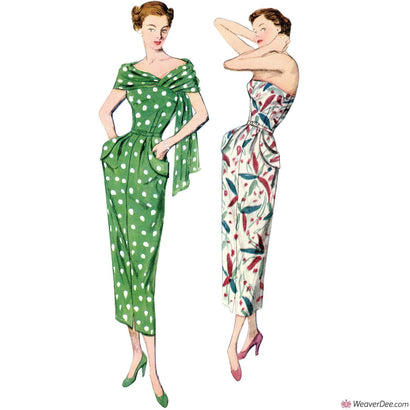 Simplicity Pattern S8876 Vintage 1940s Dress & Stole (Misses'/Women's)