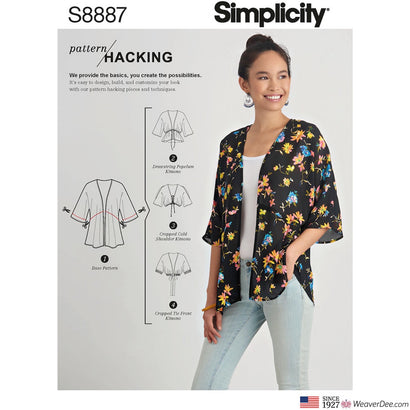 Simplicity Pattern S8887 Misses' Design Hacking Kimono