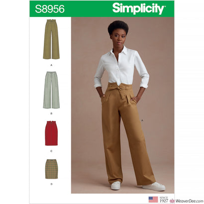 Simplicity Pattern S8956 Misses' Trousers & Skirts