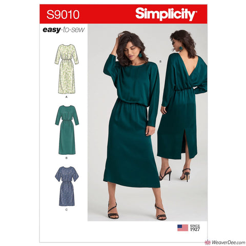 Simplicity Pattern S9010 Misses' Dresses with Length Variation