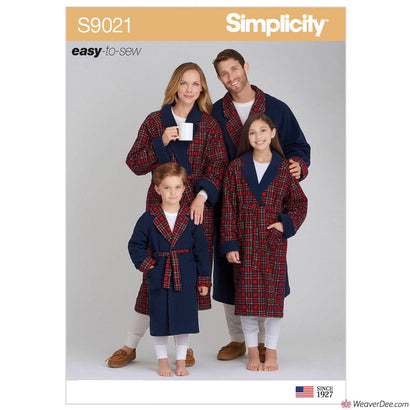 Simplicity Pattern S9021 Children's, Teens' & Adults' Robe