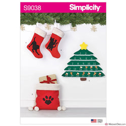 Simplicity Pattern S9038 Christmas Countdown Calendar & Accessories