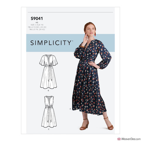 Simplicity Pattern S9041 Misses' Dresses In Three Lengths With Sleeve Variations