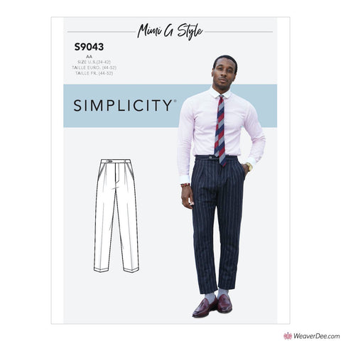 Simplicity Pattern S9043 Men's trousers By Mimi G Style