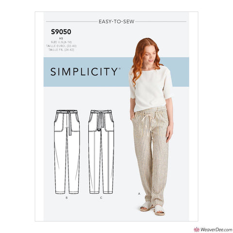 Simplicity Pattern S9050 Misses' Pull On Trousers With Pockets
