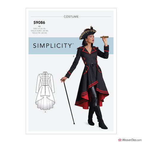 Simplicity Pattern S9086 Misses' Steampunk Costume Coats