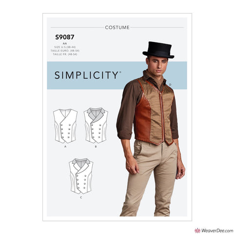 Simplicity Pattern S9087 Men's Steampunk Corset Vests