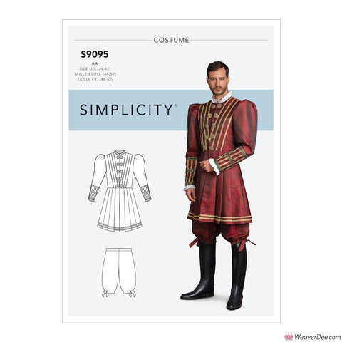 Simplicity Pattern S9095 Men's Historical Tudor Costume