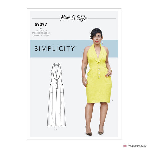 Simplicity Pattern S9097 Misses' Dress & Jumpsuit By Mimi G Style