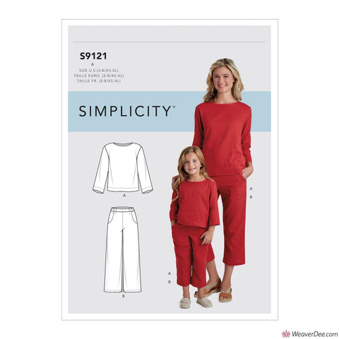 Simplicity Pattern S9121 Children's & Misses' Top & Trousers
