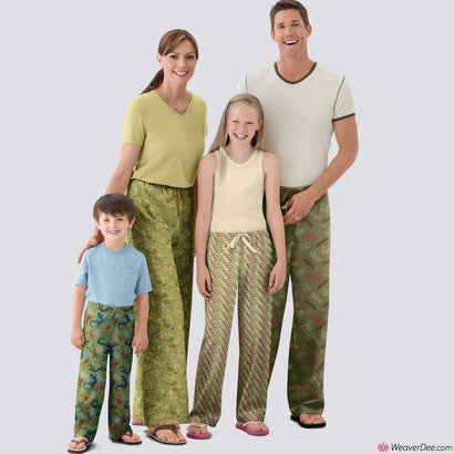 Simplicity Pattern S9129 Unisex Pyjama Bottoms (Adult, Teen & Child)