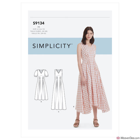 Simplicity Pattern S9134 Misses' Released Pleat Dress