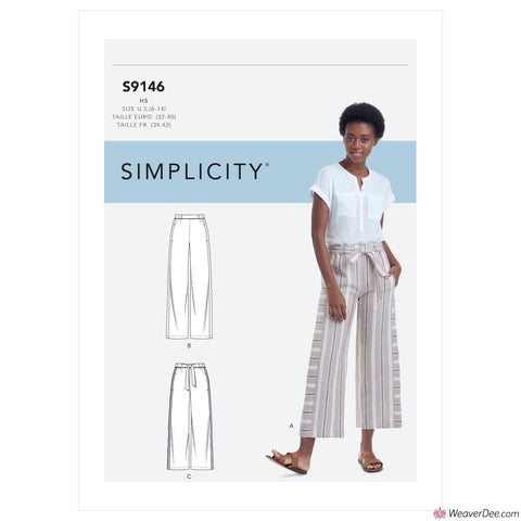 Simplicity Pattern S9146 Misses' Pull-On Trousers