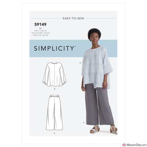 Simplicity Pattern S9149 Misses' Tops & Trousers