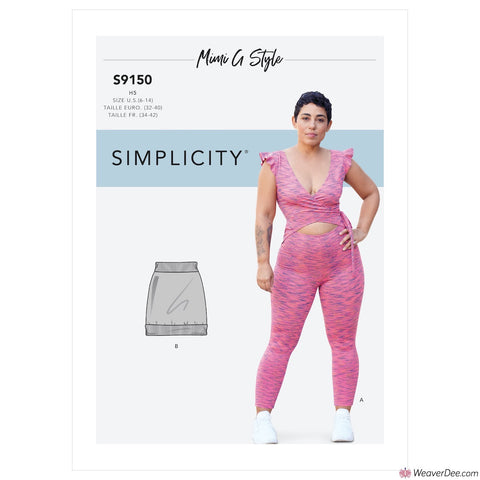 Simplicity Pattern S9150 Misses' Bodysuit & Mini Skirt By Mimi G Style