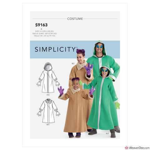 Simplicity Pattern S9163 Unisex Alien Costumes (Child, Teen & Adult)