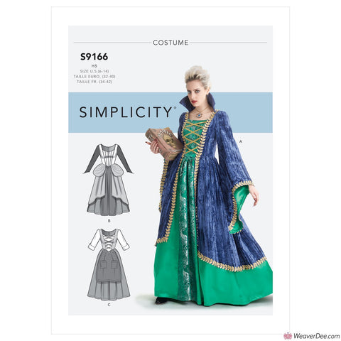 Simplicity Pattern S9166 Misses' Fantasy Costumes