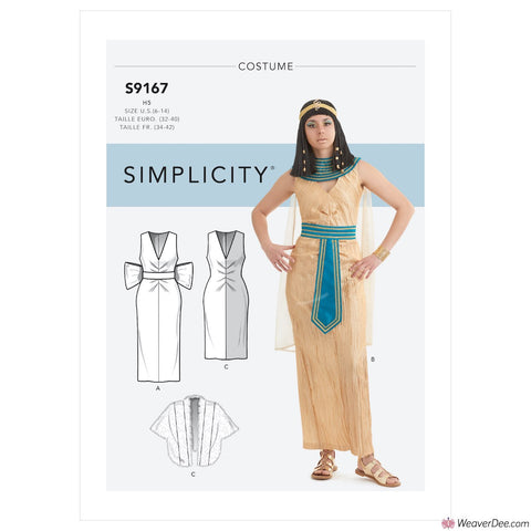 Simplicity Pattern S9167 Misses' Silver Screen Costumes