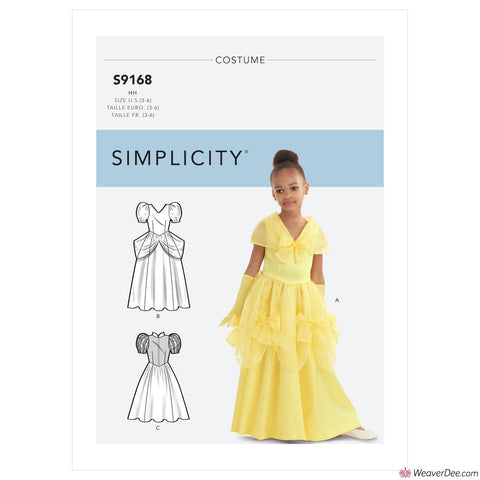 Simplicity Pattern S9168 Children's & Girls' Princess Costumes