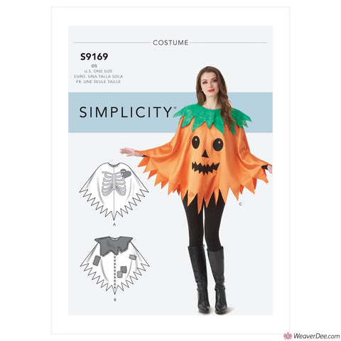 Simplicity Pattern S9169 Misses' Character Poncho Costumes