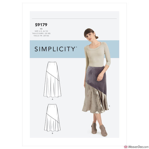 Simplicity Pattern S9179 Misses' Skirts