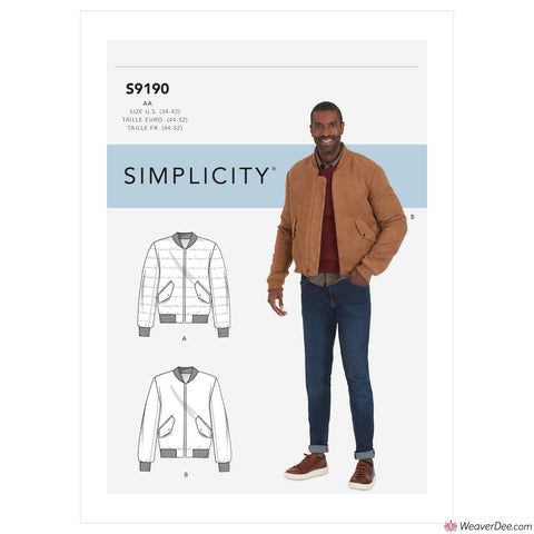 Simplicity Pattern S9190 Men's Jacket