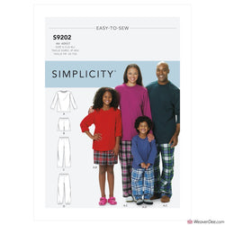 Simplicity Pattern S9202 Pyjama T-Shirt, Shorts & Pants