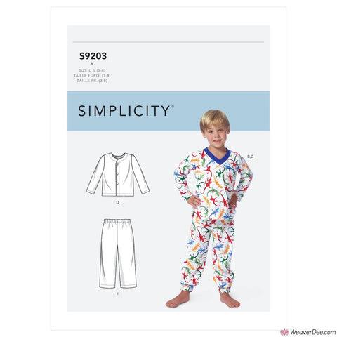 Simplicity Pattern S9203 Children's/Boys' Tops, Shorts & Pants