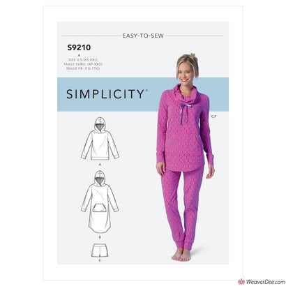 Simplicity Pattern S9210 Misses' Tops, Dress, Shorts, Pants & Slippers