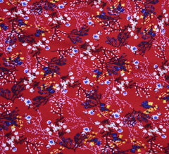 Salta Floral Viscose Fabric - Cherry Red