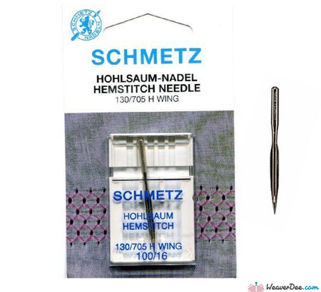 Schmetz - Wing Machine Needle - Size 100/16 - WeaverDee.com Sewing & Crafts - 1