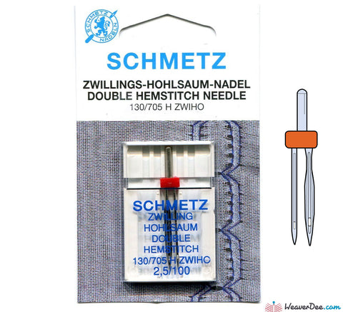 Schmetz - 2.5mm Twin Wing Machine Needle - Size 100/16 - WeaverDee.com Sewing & Crafts - 1