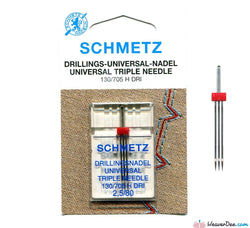 Schmetz - 2.5mm Triple Machine Needle - Size 80/12 - WeaverDee.com Sewing & Crafts