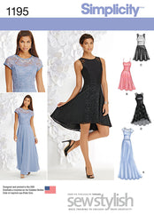 Simplicity - S1195 Misses and Miss Petite Special Occasion Dress - WeaverDee.com Sewing & Crafts - 1