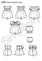 Simplicity - S1205  Babies' Dress and Panties - WeaverDee.com Sewing & Crafts - 1