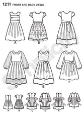 Simplicity - S1211 Child's and Girls' Dress in two lengths - WeaverDee.com Sewing & Crafts - 1